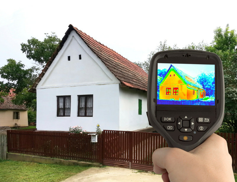Picture of infrared camera for moisture detection